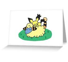 Pokemon - Pichu x Mareep Greeting Card