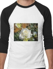 White Rose in the Garden 3 Men's Baseball ¾ T-Shirt