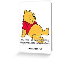 Winnie the Pooh Greeting Card