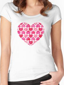 Ruby Hearts Women's Fitted Scoop T-Shirt