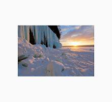 Grand Island Ice Curtains at Sunrise - Munising, Michigan T-Shirt