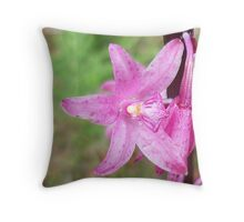 "Rosy Hyacinth ""Dipodium roseum"" Throw Pillow"