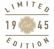 1945 Limited Edition by thepixelgarden