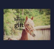 Horse God's gift Kids Tee
