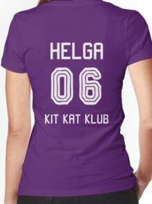Kit Kat Klub Girl - Helga Women's Fitted V-Neck T-Shirt