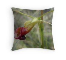 "Large Tongue Orchid ""Cryptostylis subulata"" Throw Pillow"