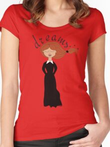dreaming girl  Women's Fitted Scoop T-Shirt