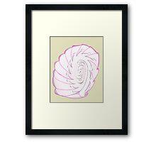 Pink Shell-like Framed Print