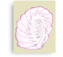 Pink Shell-like Canvas Print