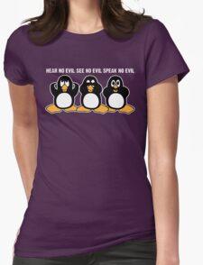 Three Wise Penguins Design Graphic T-Shirt