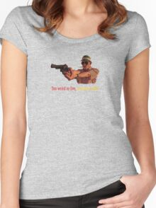 Fear And Loathing in Las Vegas - Too weird to live, too rare to die! Women's Fitted Scoop T-Shirt