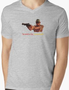 Fear And Loathing in Las Vegas - Too weird to live, too rare to die! Mens V-Neck T-Shirt