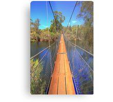 York Suspension Bridge Metal Print