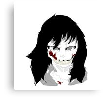 Jeff The killer Creepypasta Merchandise Canvas Print