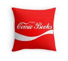 Enjoy Comic Books Throw Pillow