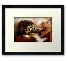 The widows Bonnet Framed Print