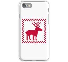 Red moose pixel mattern iPhone Case/Skin