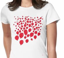 ninety-nine red balloons Womens Fitted T-Shirt