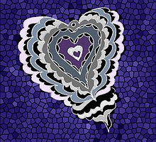 Tiled Heart by KazM