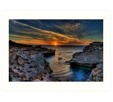 Nearing Sunset Art Print
