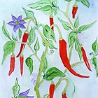 A Hot Pepper Plant (a vine and branches) by Anne Gitto