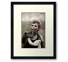 Dieselpunk Kitty Shoot - Goggles Pout Framed Print