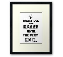 Stuck with Harry. Framed Print