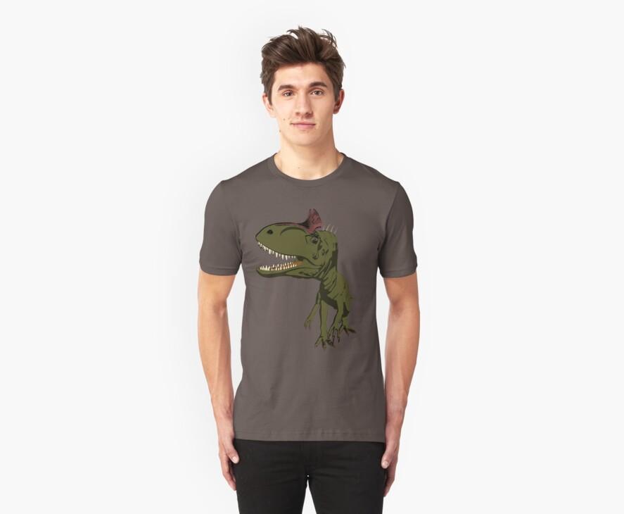 Cryolophosaurus by Adrian Jevons