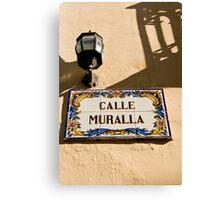 Calle Muralla Canvas Print