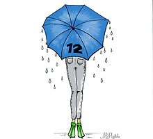 12th Man Umbrella  by pizzazzdesign