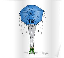 12th Man Umbrella  Poster