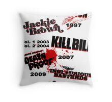 Quentin Tarantino - Art Filmography Throw Pillow