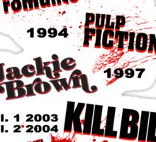 Quentin Tarantino - Art Filmography Sticker