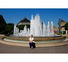 Me and fountain Photographic Print