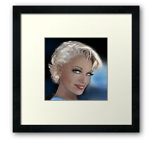 Blue Eyes Blond 2 Framed Print