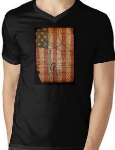 USA #1 Mens V-Neck T-Shirt