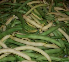 Green and yellow beans by ArtBee