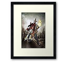 Flamethrower Guitar 002 Framed Print