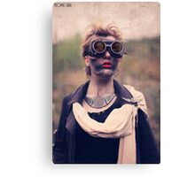 Dieselpunk Kitty Shoot - Mushroom Cloud Goggles Canvas Print