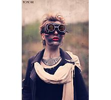 Dieselpunk Kitty Shoot - Mushroom Cloud Goggles Photographic Print