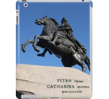 Equestrian statue of Peter the Great iPad Case/Skin