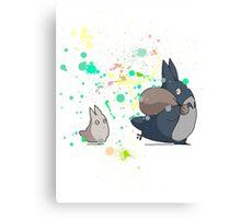 Totoro's friends colours Canvas Print