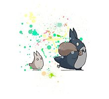 Totoro's friends colours Photographic Print