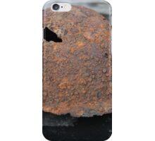 rusty military helmet iPhone Case/Skin