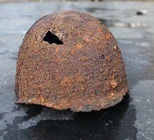 rusty military helmet by mrivserg