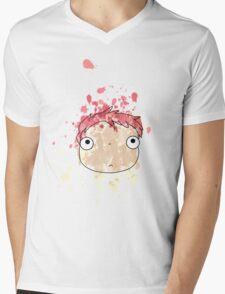Ponyo Mens V-Neck T-Shirt