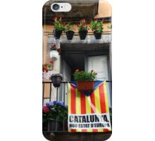 Catalan flag on the balcony  iPhone Case/Skin