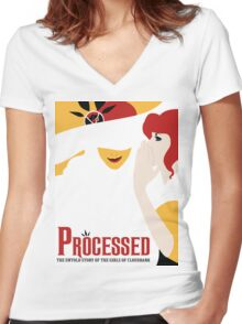 Processed - A Transistor & Wicked Mash Up Women's Fitted V-Neck T-Shirt