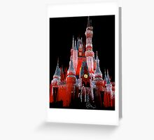 Colored Background On The Castle...  Greeting Card