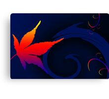 A Leaf out of colorful life Canvas Print